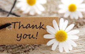 come scrivere un biglietto di ringraziamento
